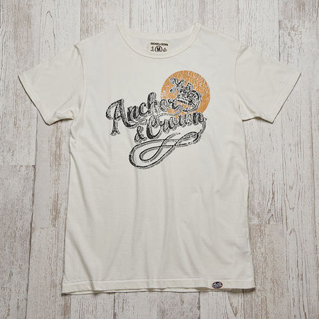 anchor&crownビーチ風ロゴTシャツ  A&C-PT-11 OW