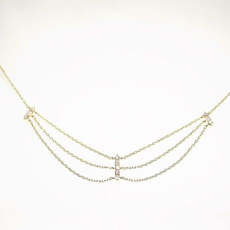 K18 diamond chain necklace