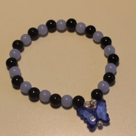 blue black cute bracelet