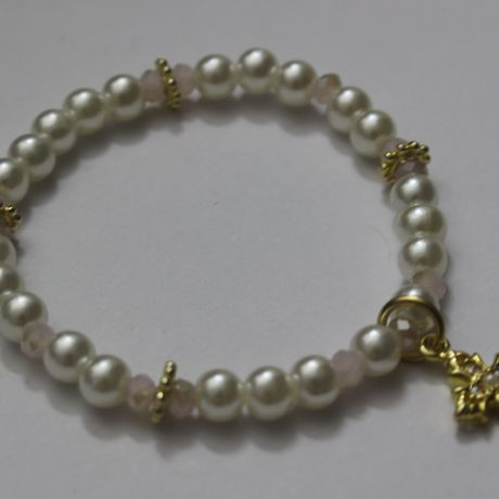 kirari cross bracelet : white