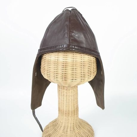aviator leather hat