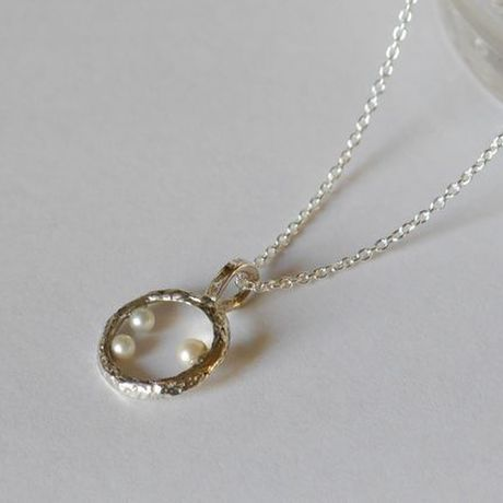Bubble necklace(SV) 泡★パール
