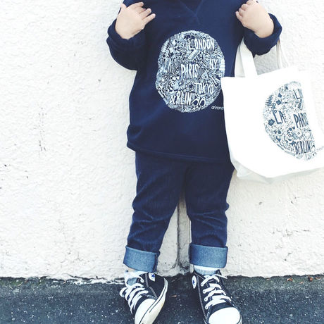 arinomama Original // Sweat wear and Tote bag (kids)