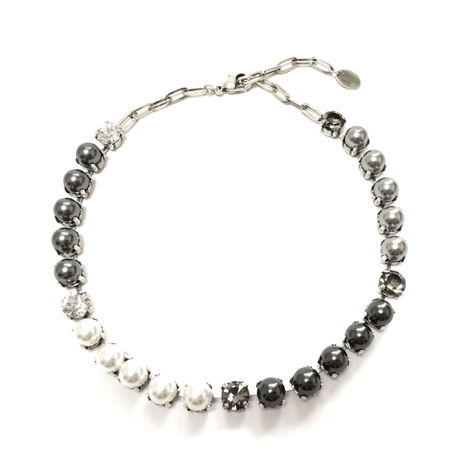 MENTOR Choker Necklace (Grey Silver)