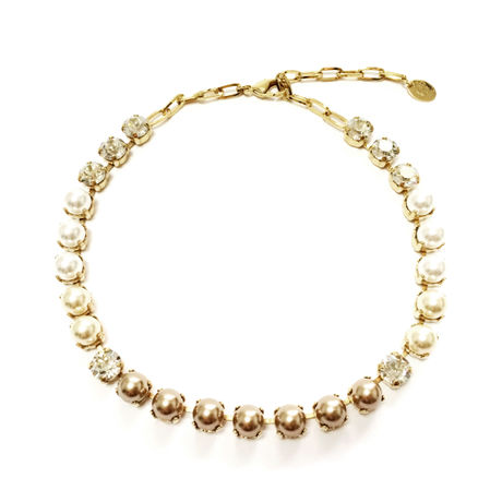 MENTOR Choker Necklace (Crystal Gold)