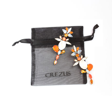 SCARABAEUS  Earrings  (ORANGE)