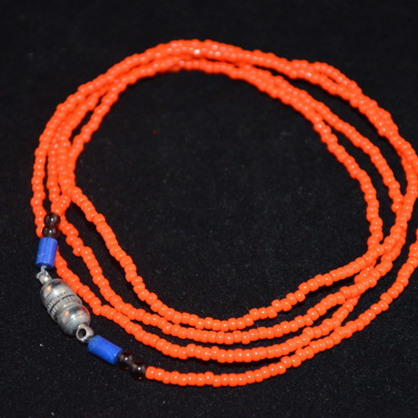 """asolare seed beads 3way necklace """"Carolina"""" (Vermillion)"""