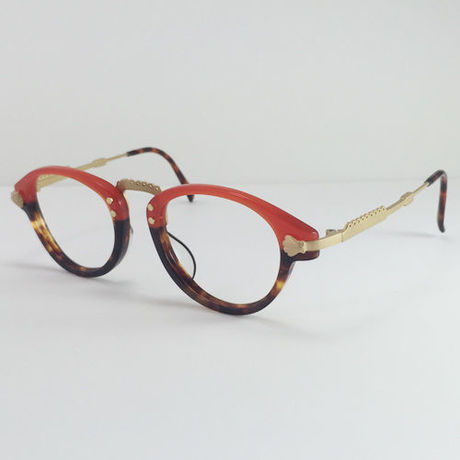 """atelier kikiki original design optique """"sirius"""" ガーリーなメガネ (red×bekko)"""