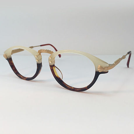 """atelier kikiki original design optique """"sirius"""" ガーリーなメガネ  (cream×beck)"""