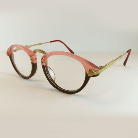 """atelier kikiki original design optique """"sirius"""" ガーリーなメガネ (pink×chocolate)"""