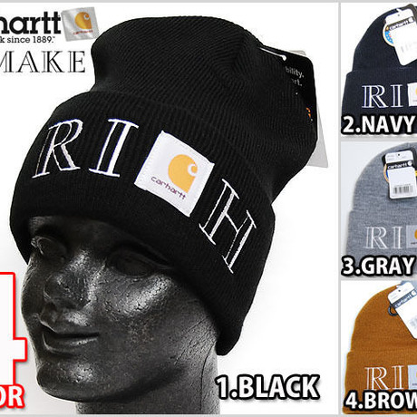 4色展開 ATLANTIS CARHARTT REMAKE RICH KNIT CAP