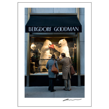 Reproduction Poster_NYC Windows_Bergdorf