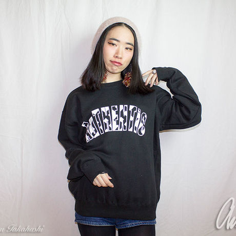 Geometric Logo Sweat Black