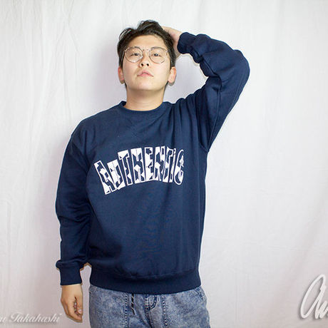 Geometric Logo Sweat Navy