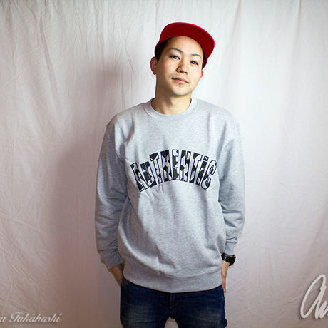 Geometric Logo Sweat Gray