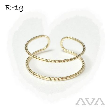 【SALE】2 line RING《gold》