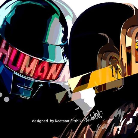 Daft Punk Pop art 10/10inch