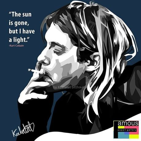 Kurt Cobain Pop art 10/10inch