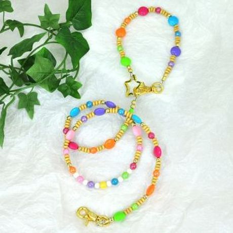 【L'ange】 ビーズリード&ネックレス高級2点セット 【hawaiian beads desing】 Beads Leash & Necklace Collection