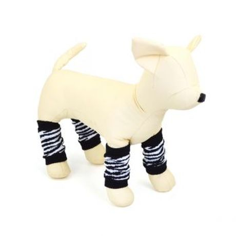 【xiboer】 ペット用レッグウォーマー4足セット 【white tiger desing】 Pet Socks Collection