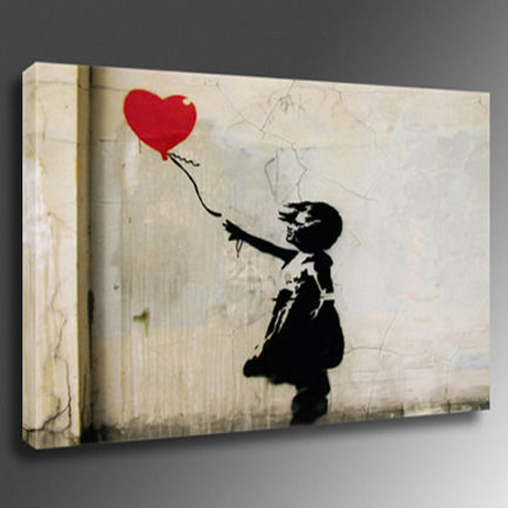 bbgh1 Balloon Girl Heart 1 アートパネル 60.5×40.5