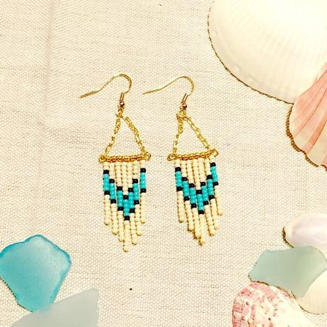 native fringe beads pierce