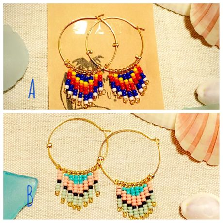 hoop beads fringe pierce