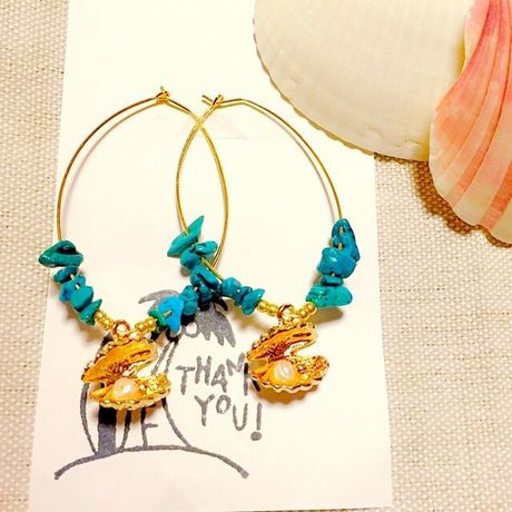 turquoise shell pierce