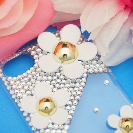 Crystal Decorated iPhone 5/5S/5C Case★Daisy Design