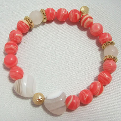 power stone bracelet/Love Ribbon