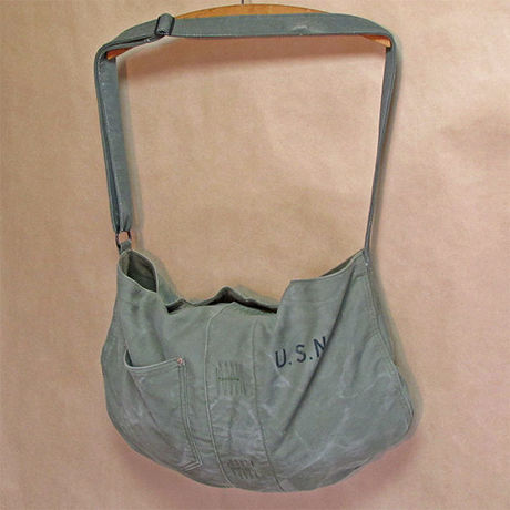Vtg U.S.N. Deck Shoulder Bag