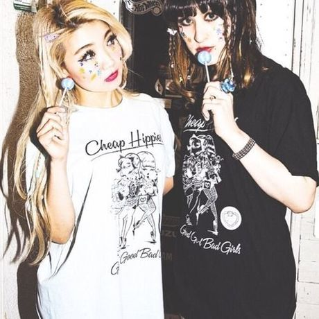 ♡Cheap Hippies♡折り返し袖T-shirt