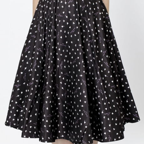 Broken-Heart-Pattern Skirt/Black