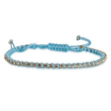 amorium jewelry friendship bracelet/ Light Blue