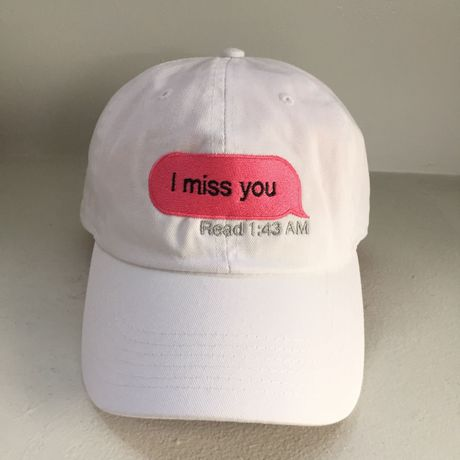 Truis Garments/miss you cap White×Pink