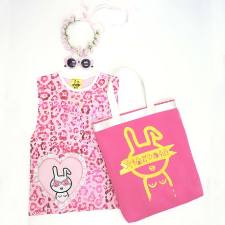 TOTE BAG(BNQ020) PINK