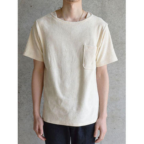 【PHINGERIN】PILE KNIT POCKET Tee(IVORY)