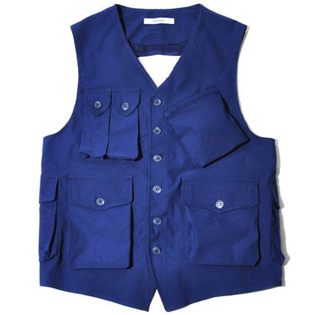 【wisdom】Multi Pocket Tied up Vest