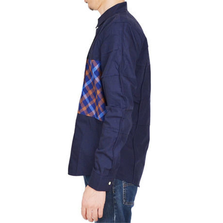 SALE【8GUYS】Check Switch Shirts エイトガイズ チェック切り替えシャツ