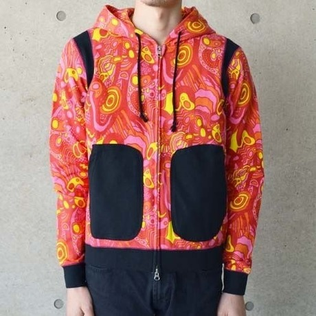SALE【diddle diddle】PSYCHEDELIC PARKA(RED)ディドゥルディドゥル サイケデリックパーカー