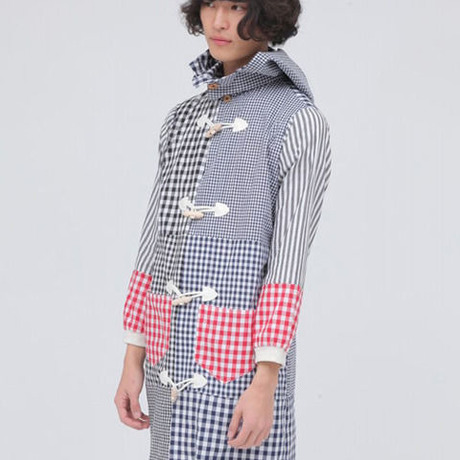 【wed】Switch Gingham Check Shirts Coat