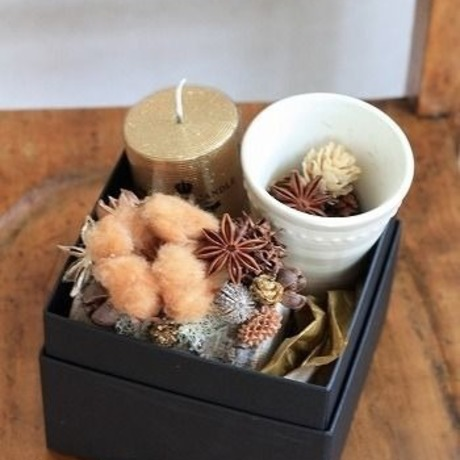 flower&candle gift box