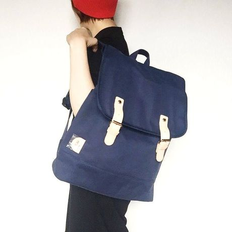【s&nd/セカンド】&flap backpack キャンバス地リュック(NVY)