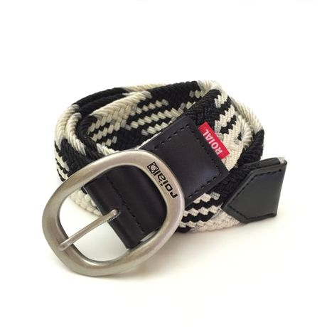 """[ ROIAL ] """"APOLLO"""" BELT -BLACK STRIPE-"""