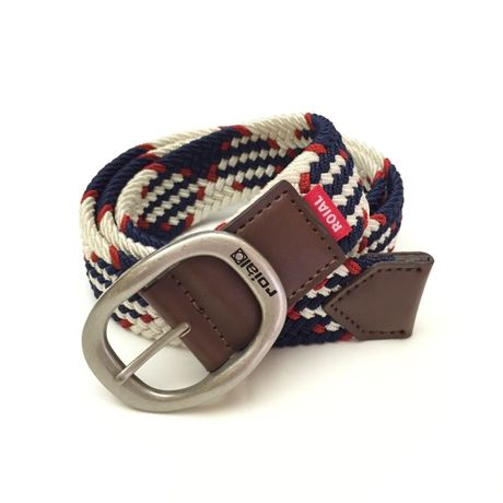 """[ ROIAL ] """"APOLLO"""" BELT -NAVY CHECK-"""