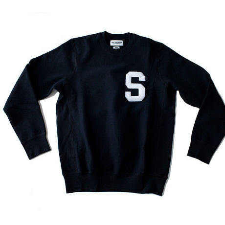 NEW YORK SUNSINE Varsity Crew Neck-Black
