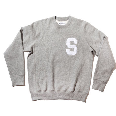 NEW YORK SUNSINE Varsity Crew Neck-Grey
