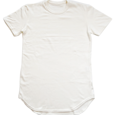 Hybreed ink. Long Length Round Tee OFF-WHITE