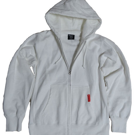 BUCR FULL-ZIP-HOODED(WHITE)