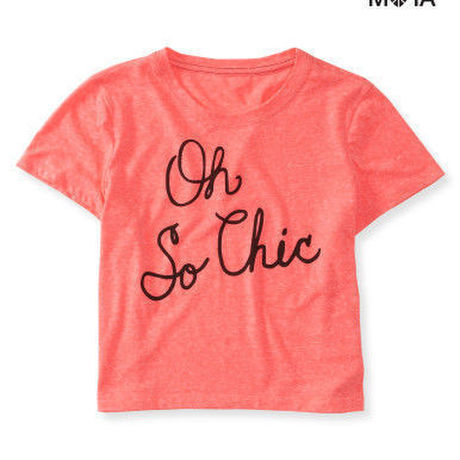 Oh So Chic Crop Graphic T